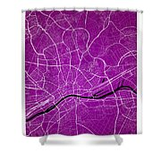 Frankfurt Street Map - Frankfurt Germany Road Map Art On Colored Shower Curtain