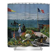 Garden At Sainte-adresse Shower Curtain