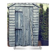 Garden Shed Shower Curtain by Amanda Elwell