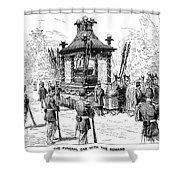 Garfield Funeral, 1881 Shower Curtain