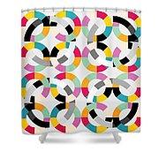 Geometric  Shower Curtain by Mark Ashkenazi
