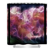 Gladiola Nebula Triptych Shower Curtain