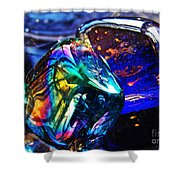 Glass Abstract 682 Shower Curtain