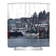 Gloucester Fishing Boats Shower Curtain