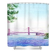 Golden Gate Bridge San Francisco Shower Curtain by Irina Sztukowski