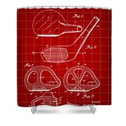 Golf Club Patent 1926 - Red Shower Curtain