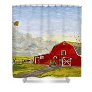 Grandpa's Farm Shower Curtain