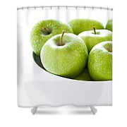 Green Granny Smith Apples Shower Curtain