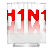 H1n1 Sign Shower Curtain
