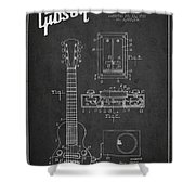 Hart Gibson Electrical Musical Instrument Patent Drawing From 19 Shower Curtain
