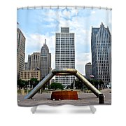 Hart Plaza Detroit Shower Curtain