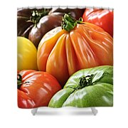 Heirloom Tomatoes Shower Curtain by Elena Elisseeva