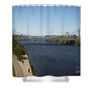 Hennepin Bridge Shower Curtain