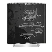 Henry Ford Engine Patent Drawing From 1928 Shower Curtain