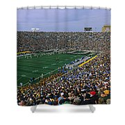 High Angle View Of A Football Stadium Shower Curtain
