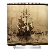 Historic Seaport Schooner Shower Curtain by John Stephens