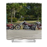 Hogs And Choppers Shower Curtain
