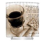 Holy Communion Shower Curtain
