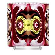 Horizon Abstract Shower Curtain