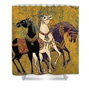 3 Horses Shower Curtain