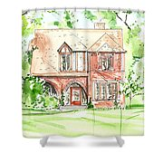 House Rendering Sample Shower Curtain