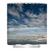 Ice Floes, Spitsbergen Shower Curtain