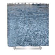 Ice On Abraham Lake Shower Curtain