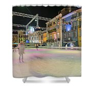 Ice Skating Shower Curtain
