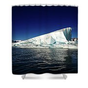 Icebergs-jokulsarlon Glacial Lagoon Shower Curtain