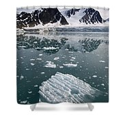 Icebergs Near The Monaco Glacier Shower Curtain