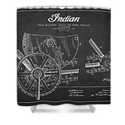 Indian Motorcycle Patent From 1902 Shower Curtain by Aged Pixel