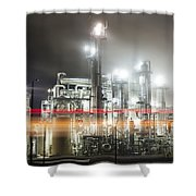 Industrial Smokestacks Of Central California Shower Curtain