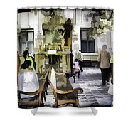 Inside The Historic Jewish Synagogue In Cochin Shower Curtain