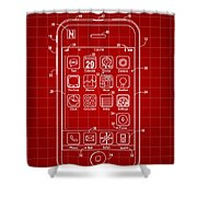 iPhone Patent - Red Shower Curtain