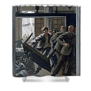 3. Jesus Drives Out The Money Changers / From The Passion Of Christ - A Gay Vision Shower Curtain