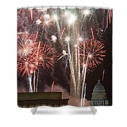 July 4th Fireworks Shower Curtain