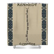 Kennedy Written In Ogham Shower Curtain