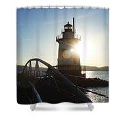Kingsland Point Lighthouse Shower Curtain