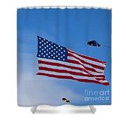 Kites On Ice Shower Curtain