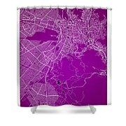 La Paz  Street Map - La Paz Bolivia Road Map Art On Colored Back Shower Curtain
