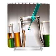 Laboratory Experiment In Science Research Lab Shower Curtain