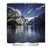 Lake Braies And Dolomite Alps, Northern Shower Curtain