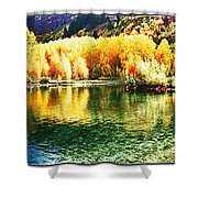 Lake Reflection In Fall Shower Curtain