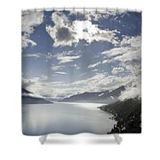 Lake With Clouds Shower Curtain