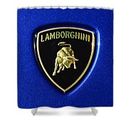 Lamborghini Emblem Shower Curtain