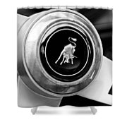 Lamborghini Steering Wheel Emblem Shower Curtain