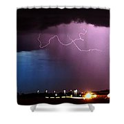 Late Evening Nebraska Thunderstorm Shower Curtain