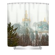 Lavra Monastery In Kiev Shower Curtain