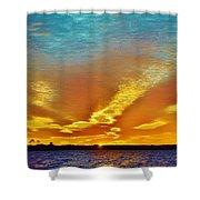 3 Layer Sunset Shower Curtain