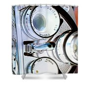 3 Lenses In Negative Shower Curtain